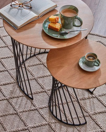 Leska set of 2 side tables Ø 50 / Ø 35 cm