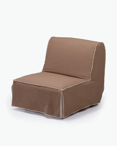 Jessa sofa bed 90 cm brown