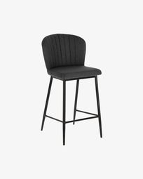 Dark grey Madge 68 cm stool