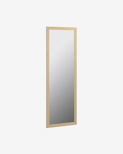 Nerina mirror natural finish wide frame 52,5 x 152,5 cm
