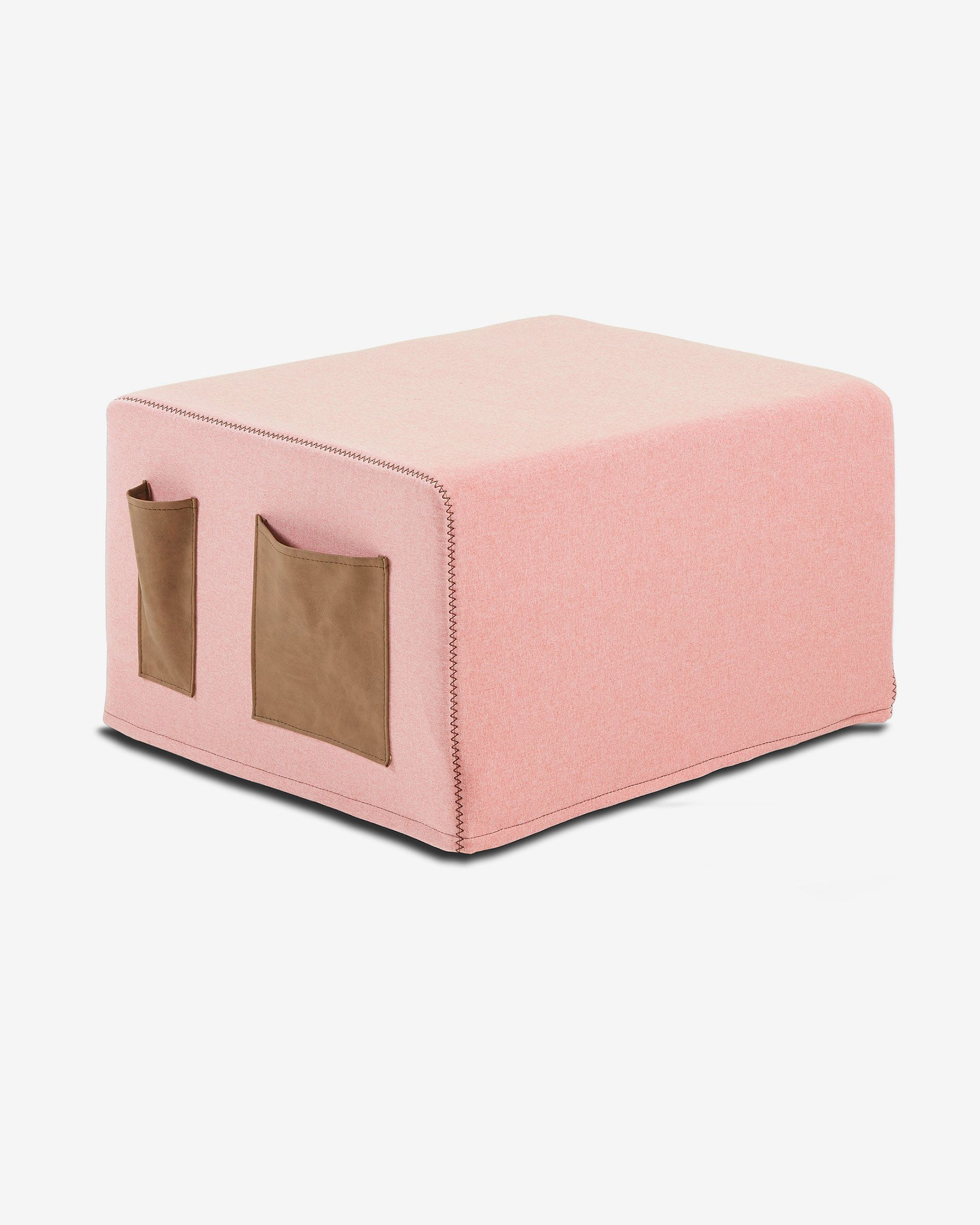 Swell Pink Verdi Bed Pouf Cover Kave Home Uwap Interior Chair Design Uwaporg