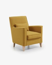 Fauteuil Glam moutarde