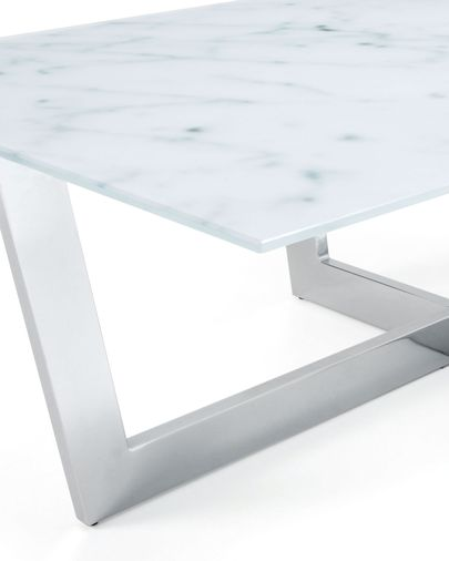 Plam Coffee Table Glass Marble Effect Kave Home