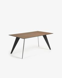 Koda table 160 cm porcelain Iron Corten finish black legs