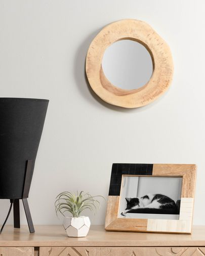 Evora photo frame, black and white