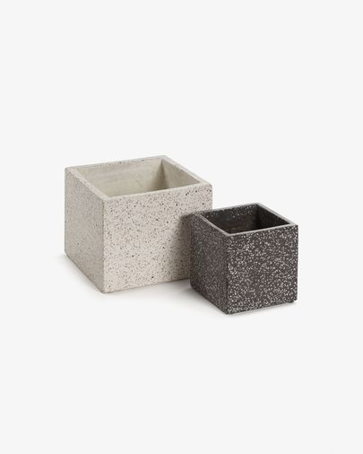 Set of two square Bransc pots