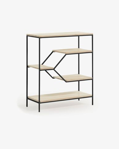 Push shelving unit 80 x 93,5 cm black