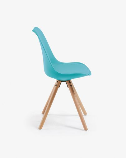 Ralf chair blue and natural