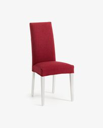 Burgundy and white Freda chair