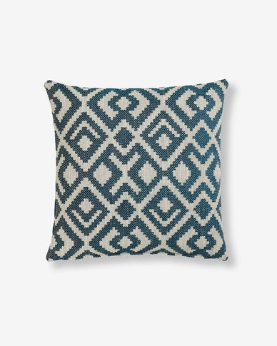 Malawi cushion cover 45 x 45 cm blue