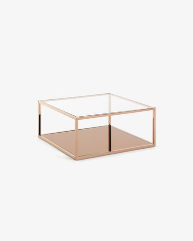 Greenhill square copper coffee table 80 x 80 cm