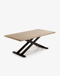 Tiva table 200 x 100 cm crosses legs