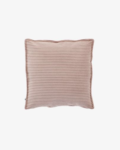 Pink corduroy Wilma cushion cover 45 x 45 cm