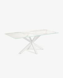 Argo 160 cm porcelain table with white legs
