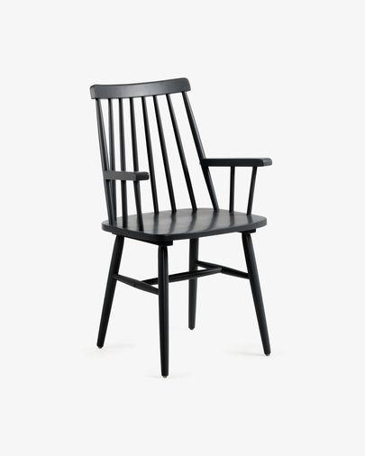 Black Tressia chair with armrests