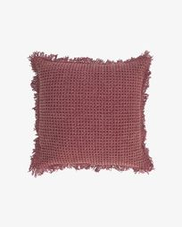 Shallow maroon cushion cover 45 x 45 cm