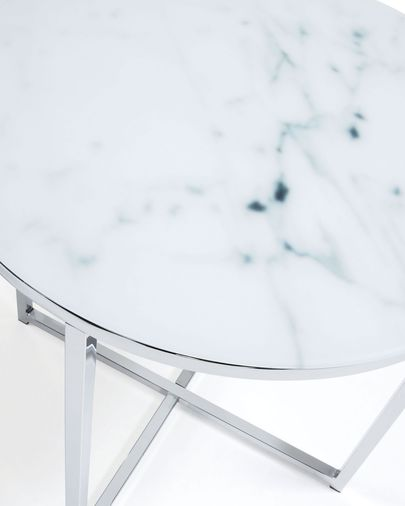 Divid coffee table 50 cm, glass marble effect