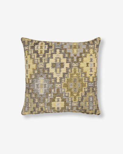 Housse coussin Nazca 45x45 cm moutarde