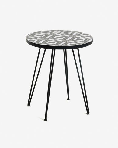 Black Oswalda table Ø 46 cm