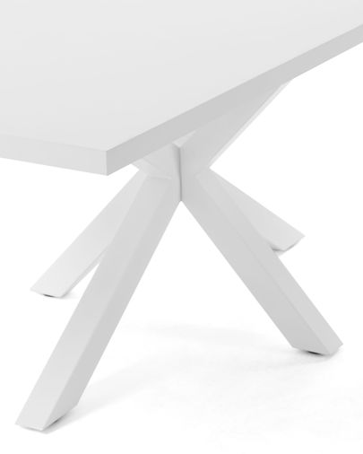 Argo table 160 cm white melamine white legs