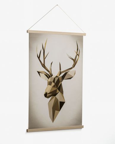 Nomand deer picture 60 x 90 cm