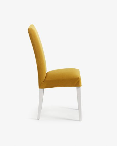 Freda chair mustard and white