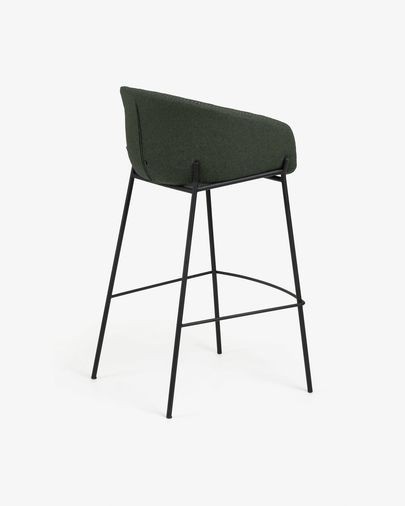 Green Yvette barstool height 74 cm