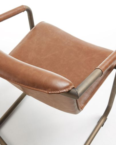 Chaise Tribe marron oxyde