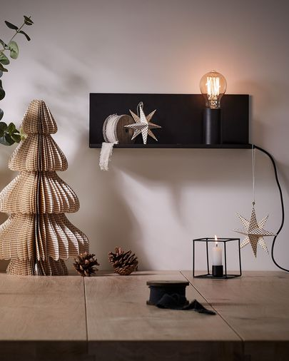 Hannah wall lamp 35 cm black