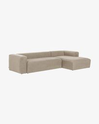 Sofà Blok 3 places chaise longue dret beix 330 cm