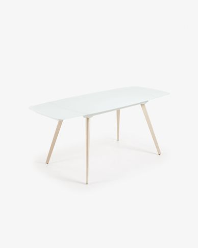 Mesa extensible Smoth 120 (180) x 80 cm blanco