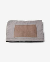 Grey Verdi bed pouf cover