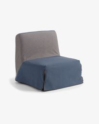 Jessa sofa bed 90 cm grey and blue