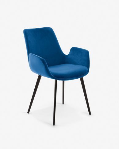 Hermann blue velvet chair