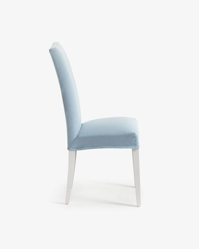 Freda chair light blue and white