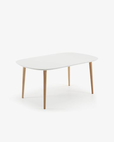 Oqui extendable table 160 (260) x 100 cm white