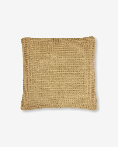 Cushion cover Shallow mustard