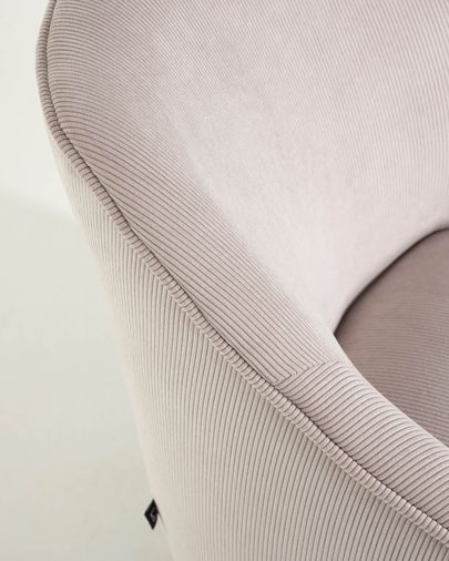 Bobly corduroy armchair in pink