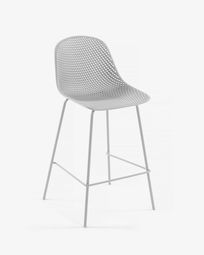 White Quinby stool height 75 cm