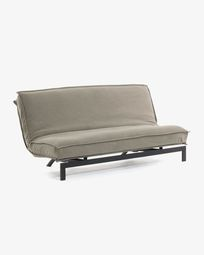 Eveline sofa bed beige metal structure 195 cm