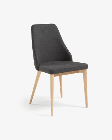 Rosie chair dark grey natural finish