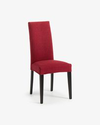 Freda chair burgundy and black