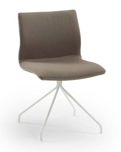 Tucana chair, white and brown