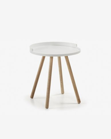 White Kurb side table Ø 46 cm