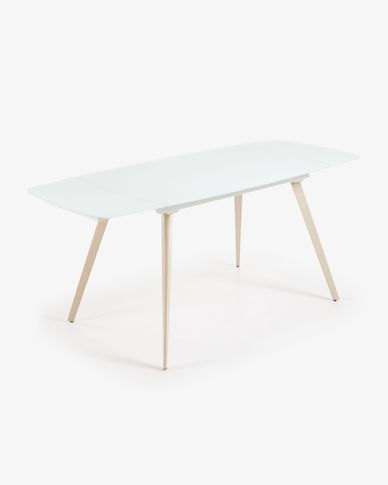 Mesa extensible Smoth 140 (210) x 88 cm blanco