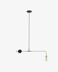 Lampe suspension Wick 80 cm noir