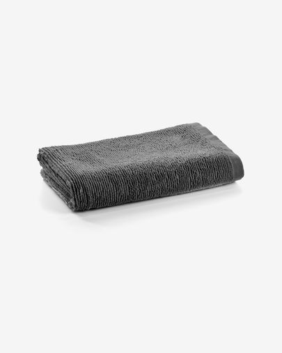 Miekki small bath towel dark grey