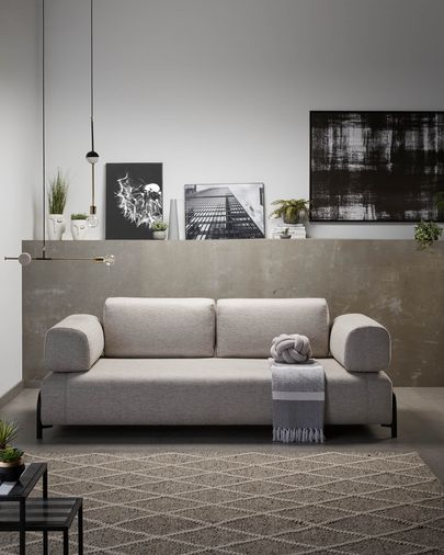 Beige 3-seaters Compo sofa 232 cm