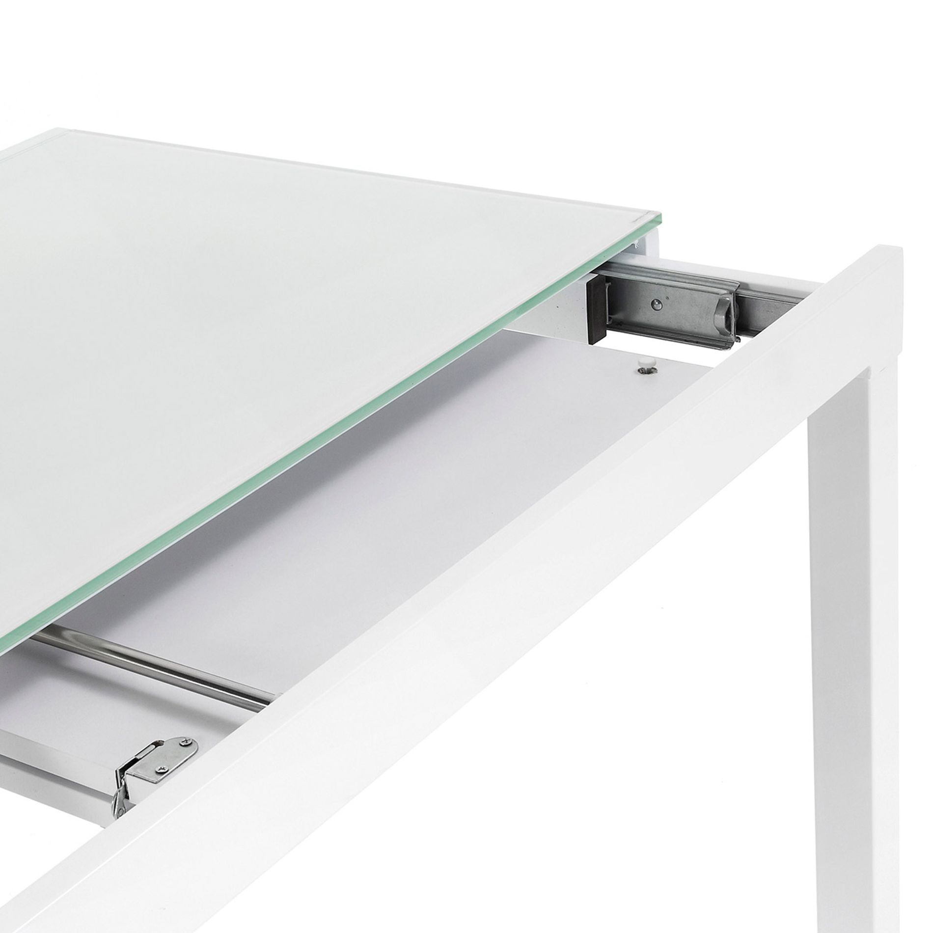 Mitra Extensible Table White 65 120 Cm Kave Home