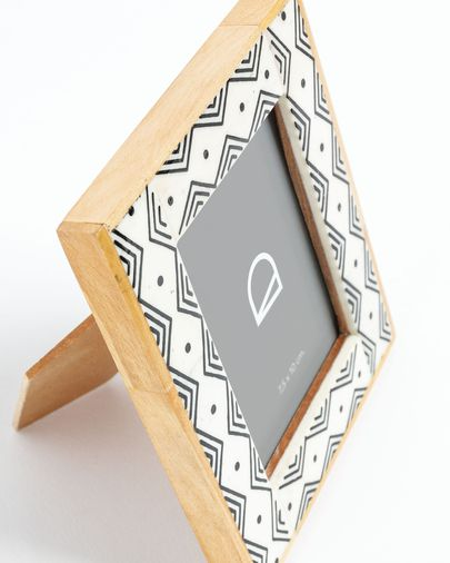 Photo frame Dorion 11 x 14 cm wood resin white black